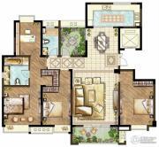 世茂香槟湖3室2厅2卫178平方米户型图