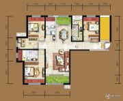 天居锦河丹堤4室2厅2卫137平方米户型图