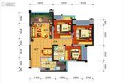 远大中央公园3室2厅1卫86平方米户型图