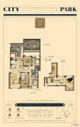 恒信・中央公园3室2厅2卫146平方米户型图