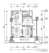 世茂悦海2室2厅1卫0平方米户型图