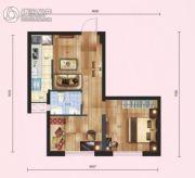 红枫金座2室1厅1卫55平方米户型图