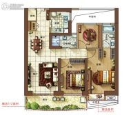 金都・海尚国际3室2厅2卫0平方米户型图