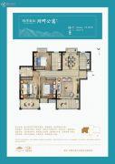 桃李春风3室2厅2卫112平方米户型图