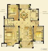 诚河新旅城3室2厅1卫101平方米户型图