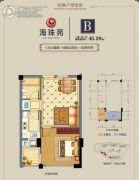 海珠苑1室1厅1卫0平方米户型图