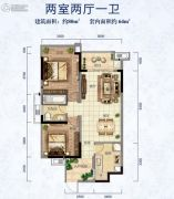 新中美・帝景湾2室2厅1卫0平方米户型图