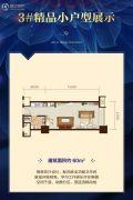 恒大御景半岛1室1厅1卫60平方米户型图