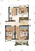 上品・百合园2室1厅1卫85平方米户型图