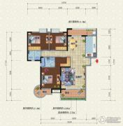 宜化新天地3室2厅2卫139平方米户型图