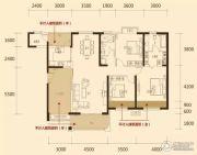 松江帕提欧3室2厅2卫158平方米户型图