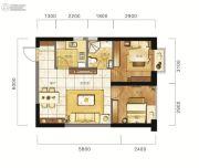 东方希望天祥广场天荟1室2厅1卫58平方米户型图