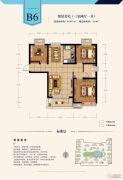 建投・御湖园3室2厅1卫93平方米户型图