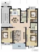 福宇凤凰华庭3室2厅2卫127平方米户型图