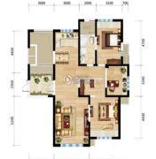 三江・尊园3室2厅1卫125平方米户型图