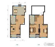铂铭郡2室2厅2卫141平方米户型图