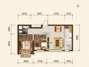 希望依山郡2室2厅1卫67平方米户型图