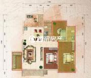 中体奥林匹克花园3室2厅1卫0平方米户型图