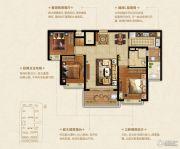 恒大悦珑湾3室2厅1卫105平方米户型图