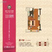 南昌恒大名都1室1厅0卫38平方米户型图
