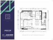 中粮创芯公园2室2厅1卫75平方米户型图