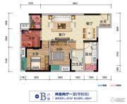 财信渝中城2室2厅1卫69平方米户型图