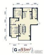 滨洲华府2室2厅2卫93平方米户型图