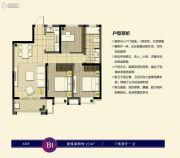 阿奎利亚8.0组团3室2厅1卫95平方米户型图