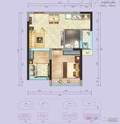 国际康城2室1厅1卫46平方米户型图