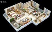 龙湖・水晶郦城2室2厅1卫0平方米户型图