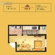 荣安广场1室1厅1卫37平方米户型图