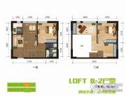 BOBO悠乐城0室0厅0卫54平方米户型图