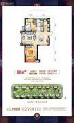 碧桂园太阳城2室2厅1卫81平方米户型图