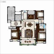 九玺台3室2厅2卫140平方米户型图