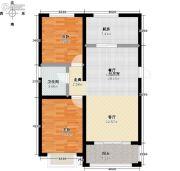 翔盛・春天大道2室0厅1卫76平方米户型图