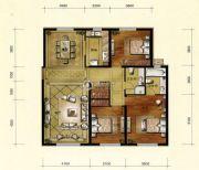 维多利大商城3室2厅2卫156平方米户型图