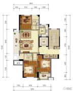 东泰・春江名园3室2厅2卫123平方米户型图