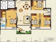 云山峰境花园4室2厅2卫143平方米户型图
