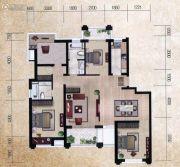 瀚海尊爵4室2厅2卫159平方米户型图