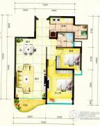 鹿茵华庭2室2厅1卫86平方米户型图