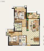 雅居乐森岚2室2厅1卫0平方米户型图