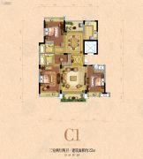 银河名苑3室2厅2卫152平方米户型图