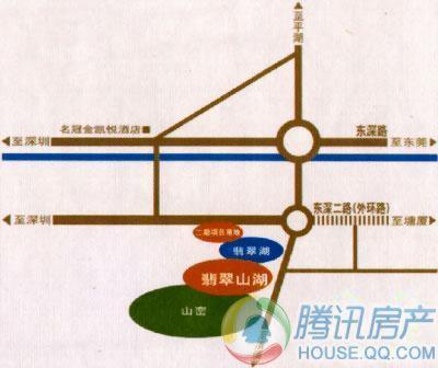 翡翠山湖交通图