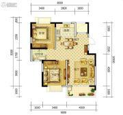 康平家园康平福邸2室2厅1卫90平方米户型图
