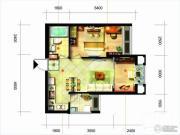 凯隆橙仕公馆2室1厅1卫58平方米户型图