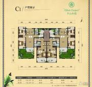 半山和园2室1厅1卫88平方米户型图