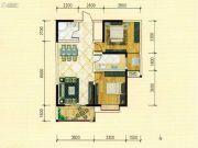 西城国际2室2厅1卫96平方米户型图