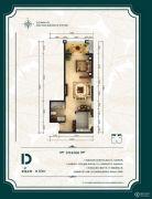 公园6号1室1厅1卫60平方米户型图