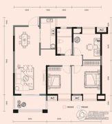 梧桐邑・九棠府3室2厅1卫104平方米户型图