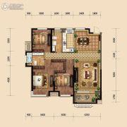 金地悦峰3室2厅2卫133平方米户型图